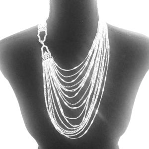 Chloe and Isabel multi strand silver necklace.